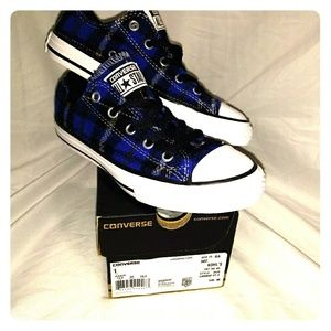 Converse All Star Kids wool Plaid shoes